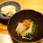 呑酔庵 味季 - 先付 鯛の昆布締めと豆腐サラダ