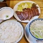 味の牛たん 喜助 - 定食(塩)1人前1,500円+とろろ150円