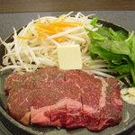 肉屋の正直な食堂 - 牛ロースステーキ
