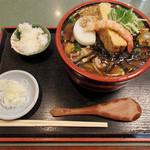 長寿庵水天宮店 - 熱野菜蕎麦(950円)