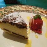 アンジュール - ランチセットに付けたマーブルチーズケーキのドルチェ