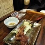 竹泉 - 唐揚げ ¥500 (手を付けた後ですが)