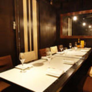 【大人の隠れ家】テーブル完全個室をご用意!