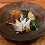 かばわーるど - 釣りサバ造り(900円)