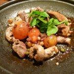 四季旬菜まんま - 比内地鶏もつの陶板焼き