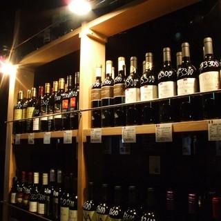 リーズナブル価格で常時40種のワインをご用意!!