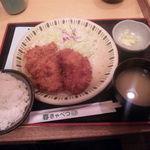 24217082 - コンビかつ定食(800円)