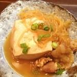 加乃季節料理 - お通しの肉豆腐