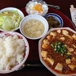 長春飯店 - 麻婆豆腐定食800円