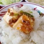 長春飯店 - 麻婆豆腐は辛さ普通だと、まったく辛くないです。