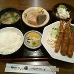 くるま - 日替わり定食(海老フライ)♪730円
