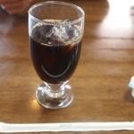 とんかつ立花 - 社長とんかつセット アイスコーヒー