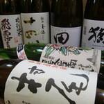 魚人 - 料理写真:地酒・焼酎の一部です♪