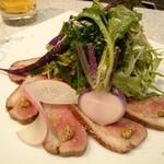 味処てらさき - 鴨ロースと有機野菜のサラダ