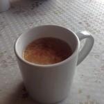 行楽花 - こちらもセルフで温かいスープを(卵とトマト入り)