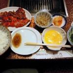 肉の米内 - ランチに、カルビ定食♪1100円