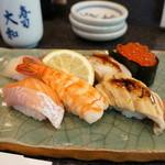 寿司大和 - 私がいただいたのは、上にぎり7貫