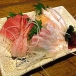 寿海 - お刺身4点盛合せ