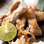 JAPANESE  DINING 無花果 - 中札内鶏を本格炭焼きで!山わさびとの相性抜群。650円(税抜)