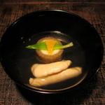 24240026 - 牛蒡と鯛の真薯、白子のお椀