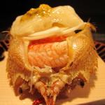24240030 - 毛蟹の二杯酢ジュレがけを後ろから見ると蟹肉がいっぱい!