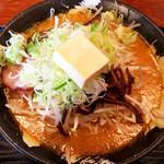 すすきのらぁめん 膳 - 味噌バターラーメン(ネギ・モヤシ増し)
