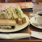 珈琲館 - 珈琲館ハウスサンド ドリンク付き ¥800 ドリンクはブレンドコーヒーでオーダー。(2014.2)