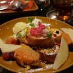青山フラワーマーケット ティーハウス - フラワーフレンチトースト