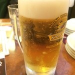 ちょもらんま - ビールおいしい~。