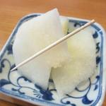 のれん - サービスデザート(梨)
