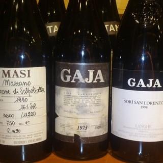 イタリアのヴィンテージワインも豊富にございます。