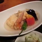 はんぞう - 海老と豆腐と彩り野菜の揚げ出し