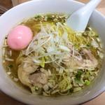 24248656 - 「塩ラーメン」650円+「桜エビ煮玉子」100円