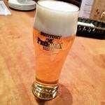 魚deバール ウオチカ。 - とっても丁寧に注がれたビールはザ・プレミアムモルツ♪