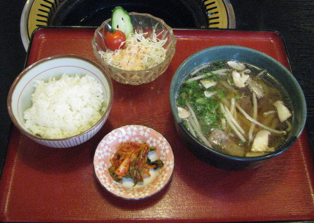 肉料理 美好 - テールうどん定食600円