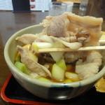 藤店うどん - 肉汁アップ