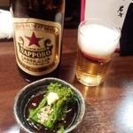 旨めぇもん屋 きゅう - 中瓶ビール+お通し