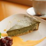 Cafe Lychee - よもぎとおからの生チーズタルト