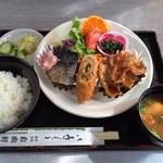自由軒 - サービス定食750円。