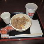 すき家 - 牛丼並とKIX特典コーラ