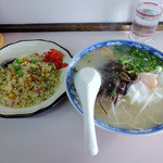 松崎ラーメン - 「玉子入りラーメンAセット」700円
