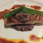 24258431 - コース料理(優しく蒸しあげた真鯛 五穀米のリゾット オリーブオイルとトマトのマリニエールソース香草風味)