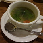 Nitaly - コース(春野菜のジンジャースープ)