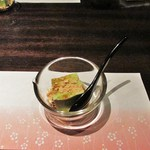 和食厨房 ゆず - 抹茶プリンのきな粉がけ