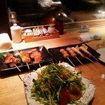 24267956 - 水菜サラダ・串焼き