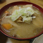 トキワ - 具だくさんで美味しいトン汁(2014.1)