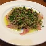オーベルジュ・サトウ - 料理写真:島魚のカルパッチョ(アカムツ、950円)
