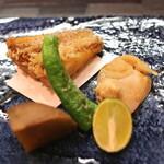 和食 おの寺 - 焼き蛤、甘鯛の松笠揚げ、安納芋