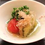 和食 おの寺 - トマト、子持昆布、菜の花 の 含ませ