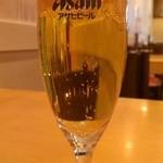 はせ川 - ランチビール(250円)